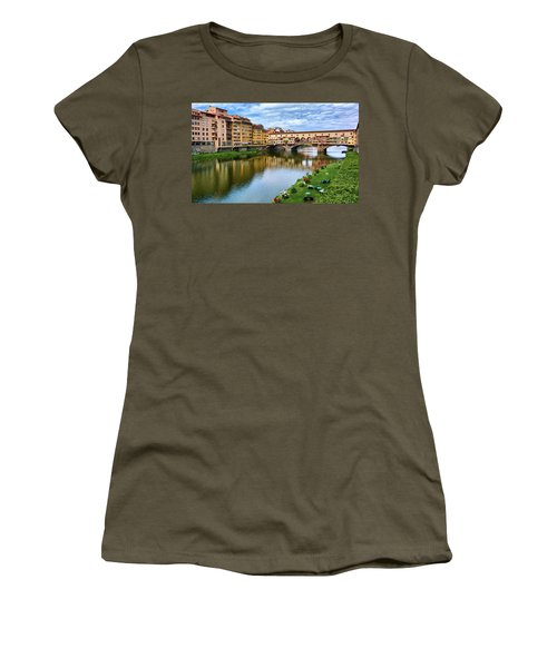 Ponte Vecchio On A Spring Day In Florence, Italy Women's T-Shirt
