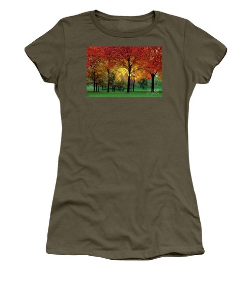 Beautiful Light At The Park In St. Louis In Autumn Women's T-Shirt (Junior Cut) by Wernher Krutein
