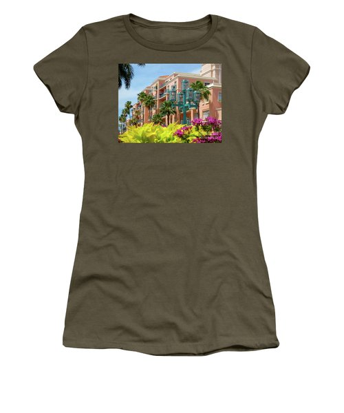 Beautiful Mizner Park In Boca Raton, Florida. #9 Women's T-Shirt (Athletic Fit)