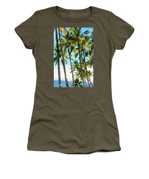 Women's T-Shirt (Junior Cut) featuring the photograph Beautiful Palms Of Maui 16 by Micah May