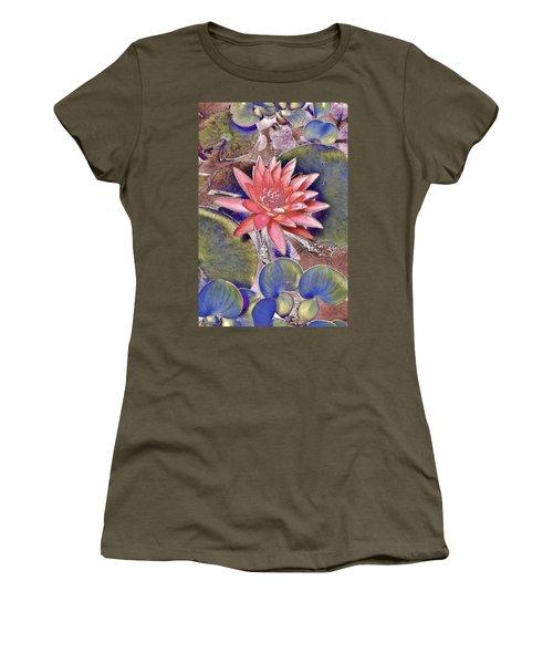 Beautiful Pink Lotus Abstract Women's T-Shirt