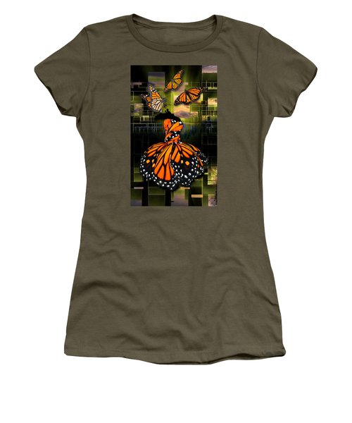 Women's T-Shirt (Athletic Fit) featuring the mixed media Beauty In All Things by Marvin Blaine