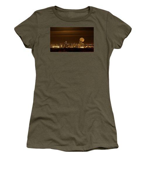 Beaver Moonrise Women's T-Shirt (Junior Cut) by Kristal Kraft