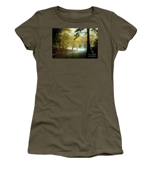 Beavers Bend Creek In Fall Women's T-Shirt (Athletic Fit)