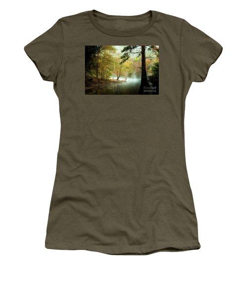 Beavers Bend Creek In Fall Women's T-Shirt (Athletic Fit)