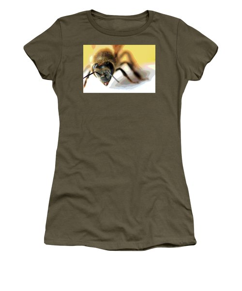 Bee In Macro 5 Women's T-Shirt (Junior Cut) by Micah May