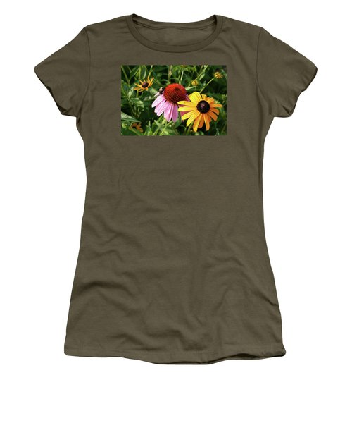 Bee On The Cone Flower Women's T-Shirt