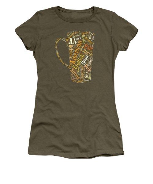 Beer Lovers Tee Women's T-Shirt (Junior Cut) by Edward Fielding