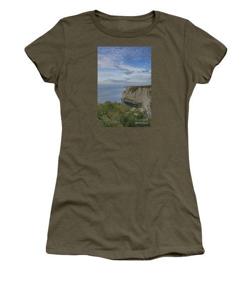 Bempton View Women's T-Shirt (Junior Cut) by David  Hollingworth
