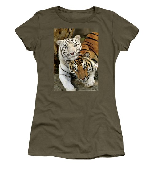 Bengal Tigers At Play Women's T-Shirt