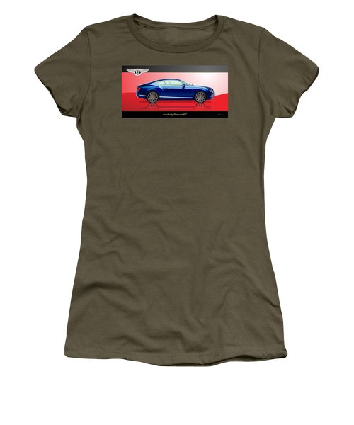 Bentley Continental Gt With 3d Badge Women's T-Shirt