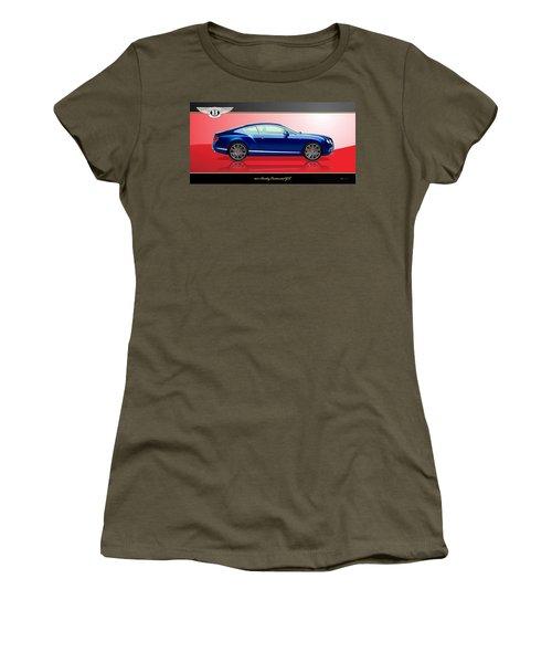 Bentley Continental Gt With 3d Badge Women's T-Shirt