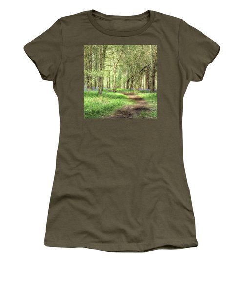 Bentley Woods, Warwickshire #landscape Women's T-Shirt (Athletic Fit)