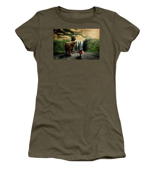 Women's T-Shirt (Junior Cut) featuring the digital art Berlin Bear by Nathan Wright