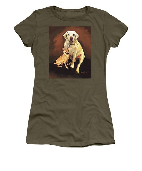 Best Friends By Spano Women's T-Shirt (Junior Cut) by Michael Spano
