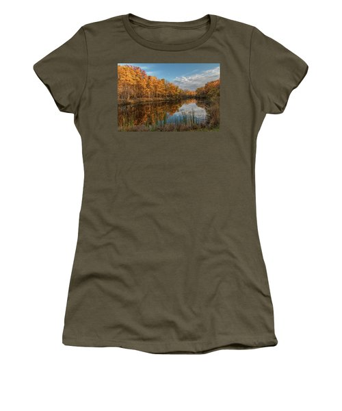Beyer's Pond In Autumn Women's T-Shirt (Athletic Fit)