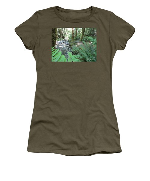 Women's T-Shirt (Athletic Fit) featuring the photograph Beyond The Ferns by Marie Neder