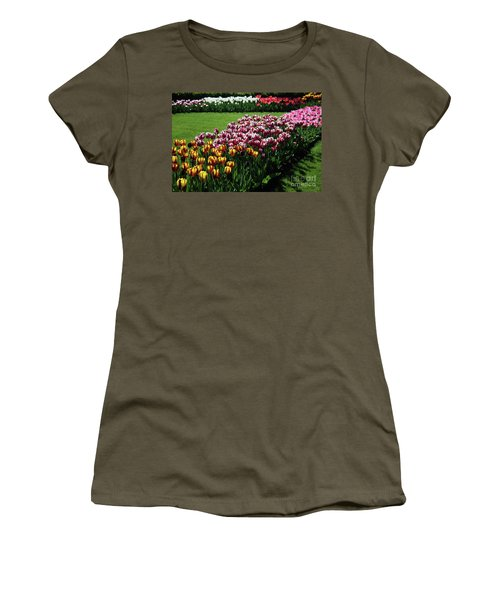 Multicolor Tulips Women's T-Shirt (Athletic Fit)