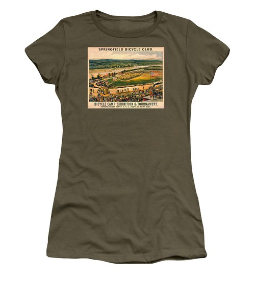 Women's T-Shirt (Junior Cut) featuring the photograph Bicycle Camp 1883 by Padre Art