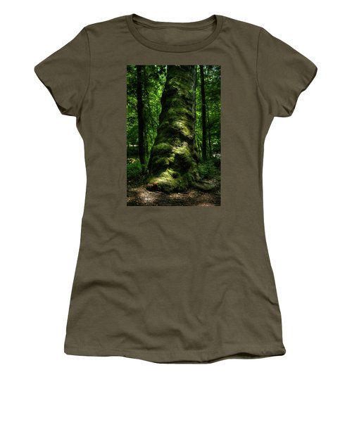 Big Moody Tree In Forest Women's T-Shirt