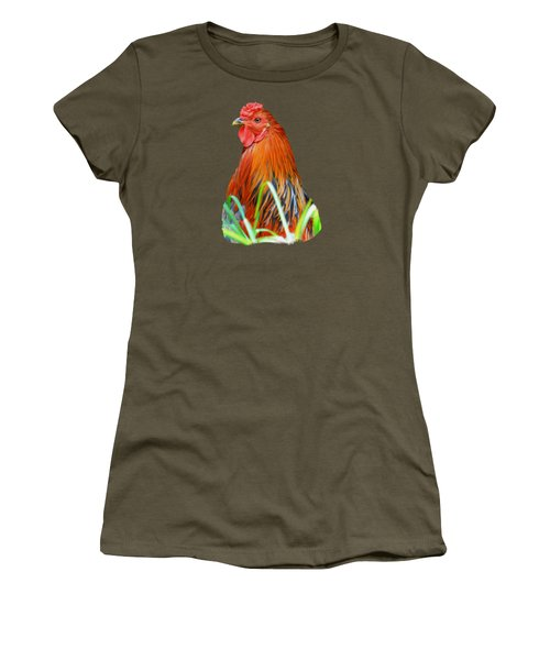 Big Red The Rooster Women's T-Shirt (Athletic Fit)
