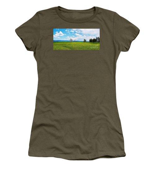Big Summit Prairie In Bloom Women's T-Shirt (Junior Cut) by Michele Penner