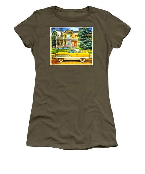 Women's T-Shirt (Junior Cut) featuring the photograph Big Yellow Metropolis by Craig J Satterlee