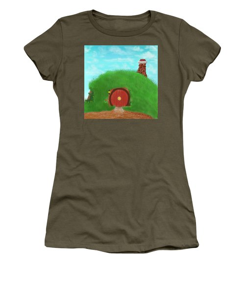 Bilbo's Home In The  Shire Women's T-Shirt (Junior Cut) by Kevin Caudill