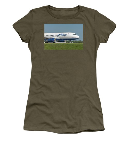 Women's T-Shirt (Athletic Fit) featuring the photograph Bippity Boppity Blue by Guy Whiteley