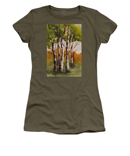Birch Women's T-Shirt (Junior Cut) by Marilyn Jacobson