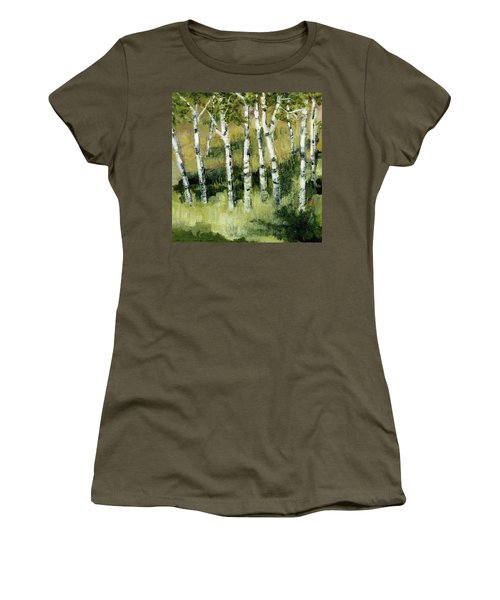 Birches On A Hill Women's T-Shirt (Athletic Fit)