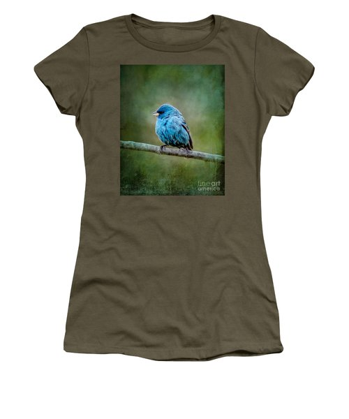 Bird In Blue Indigo Bunting Ginkelmier Inspired Women's T-Shirt