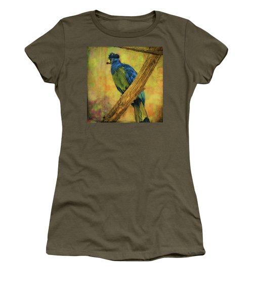 Bird On A Branch Women's T-Shirt (Junior Cut) by Lewis Mann