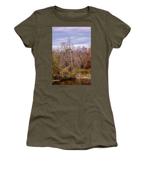 Women's T-Shirt (Junior Cut) featuring the photograph Bird Out On A Limb 3 by Madeline Ellis