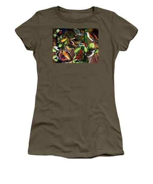 Birdland Women's T-Shirt (Junior Cut) by Joseph Mosley