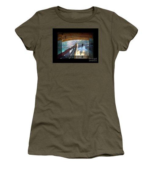 Birds Boaters And Bridges Of Barton Springs - Bridges One Greeting Card Poster V2 Women's T-Shirt (Junior Cut) by Felipe Adan Lerma