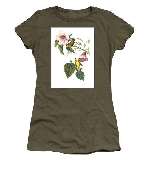 Women's T-Shirt (Junior Cut) featuring the photograph Birds Chat by Munir Alawi