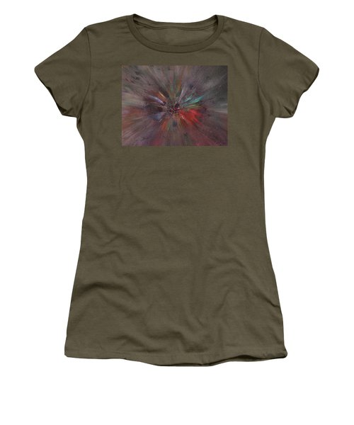 Women's T-Shirt featuring the painting Birth Of A Soul by Michael Lucarelli
