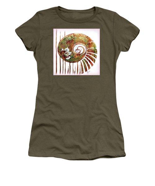 Birth Of Lotus Land Women's T-Shirt (Junior Cut) by Anna Ewa Miarczynska