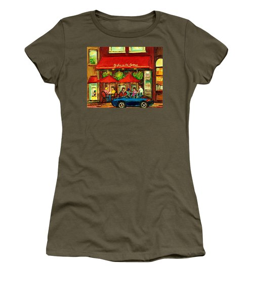 Bistro On Greene Avenue In Montreal Women's T-Shirt