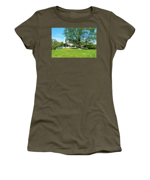 Women's T-Shirt (Junior Cut) featuring the photograph Bit O Nh History by Greg Fortier
