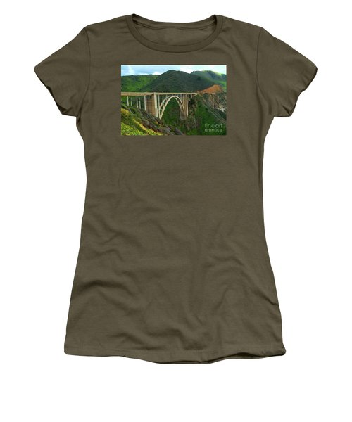 Bixby Bridge In Big Sur Women's T-Shirt