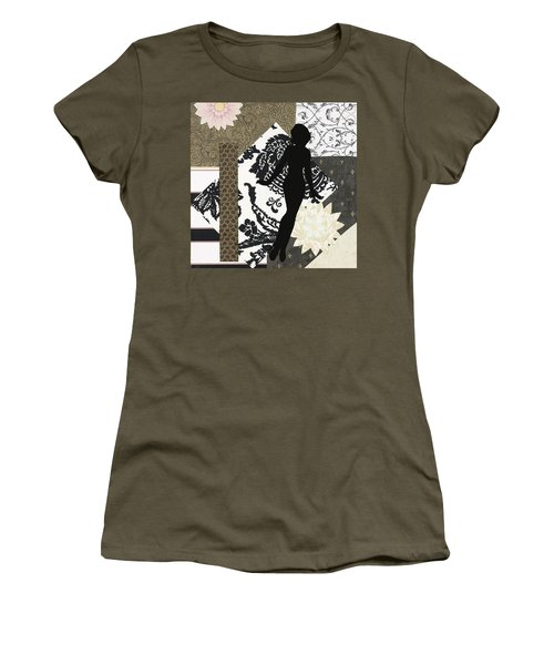 Black And White Paper Doll Women's T-Shirt (Athletic Fit)