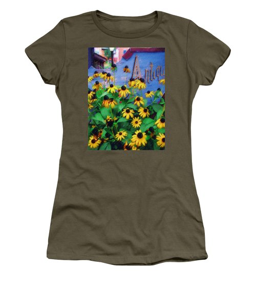 Black-eyed Susans At The Bag Factory Women's T-Shirt (Junior Cut)