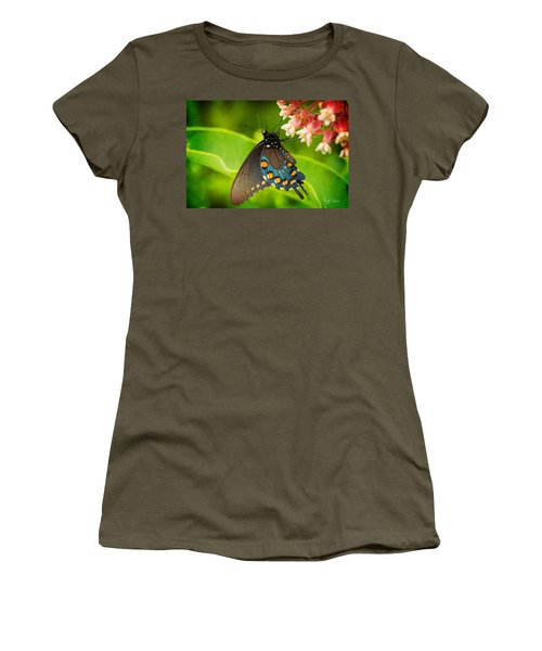 Black Swallowtail #1 Women's T-Shirt (Athletic Fit)