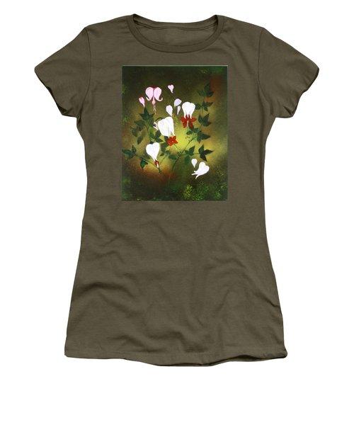 Blood Flower Women's T-Shirt (Junior Cut) by Tbone Oliver