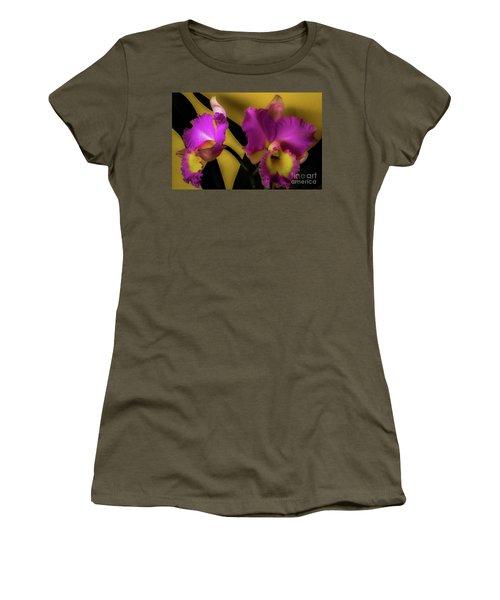 Blooming Cattleya Orchids Women's T-Shirt