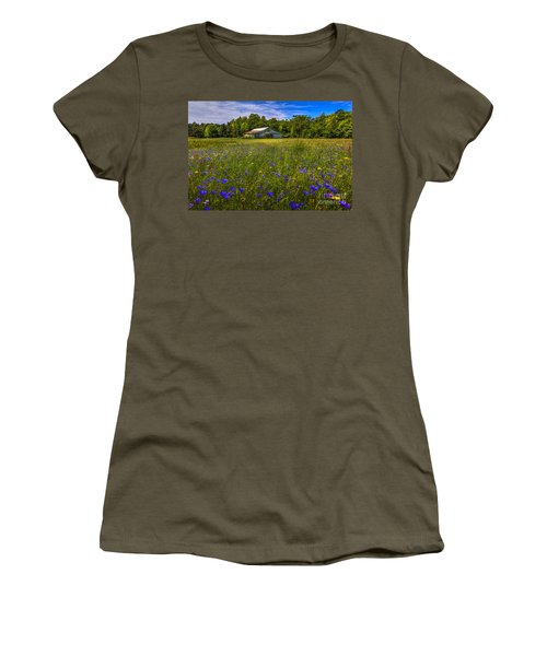 Blooming Country Meadow Women's T-Shirt (Junior Cut) by Marvin Spates