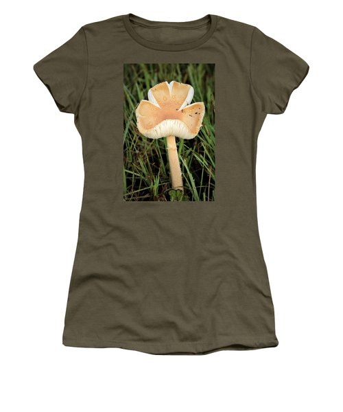 Women's T-Shirt (Athletic Fit) featuring the photograph Blooming Mushroom by Sheila Brown