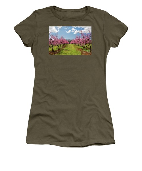 Blooming Peach Orchard 1 Women's T-Shirt